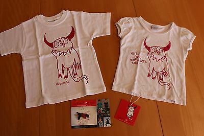 matching Jackson's monsters T-shirts boy girl age 2-4 year cute children clothes