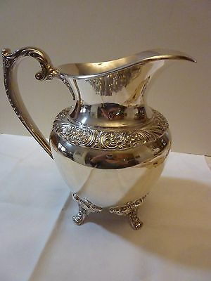 Heritage Silver Plated Water Pitcher by International Silver #9417