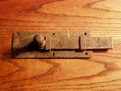 "Vintage  Old 6 3/8"" flat bar Barn Door Slide Lock Gate Latch Dead Bolt"