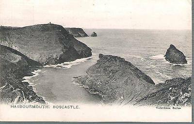 Boscastle, Cornwall - Harbour Mouth - early Valentines postcard c.1905