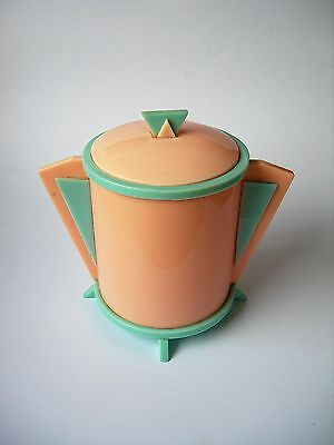 Space Age Pink And Blue Perspex Cotton/Tissue Box. Early 1950's