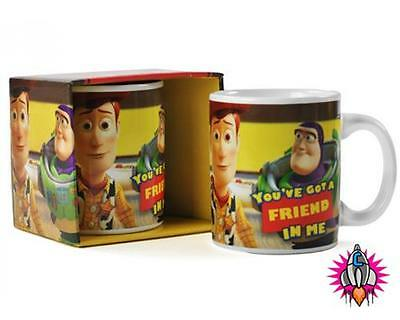 OFFICIAL DISNEY TOY STORY YOU/'VE GOT A FRIEND IN ME MUG COFFEE CUP NEW GIFT BOX