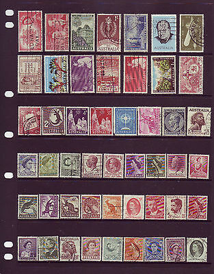 Mixed Australian Pre Decimal Stamps Used Lot