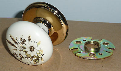 "Single Gainsborough Porcelain ""Dummy"" Knob - Kinsington - Flower Design"