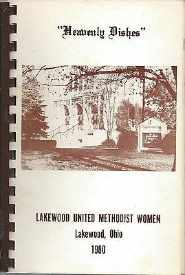 Lakewood Oh 1980 Methodist Church *heavenly Dishes Cook Book *local Ads *ohio