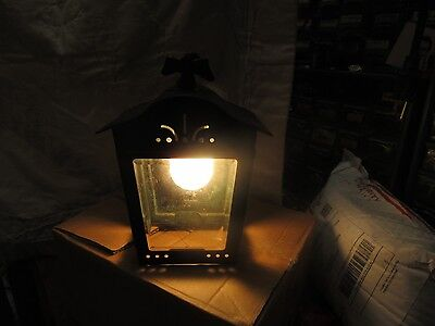 Antique/Vtq Copper & Glass Porch Lantern Outdoor Light Fixture USA