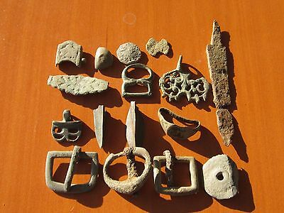 Lot 16 Ancient Roman & Byzantine Medieval bronze and iron artifacts / fragments
