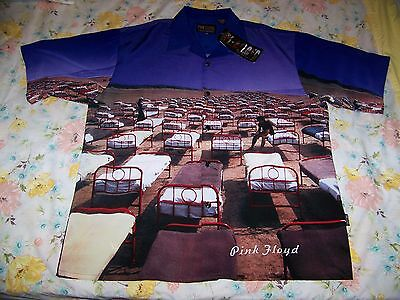 NEW TAGS Pink Floyd A MOMENTARY LAPSE OF REASON Dragonfly Button Dress Shirt XXL