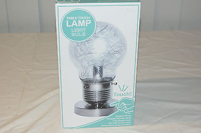 Light Bulb Table Touch Lamp Brand New