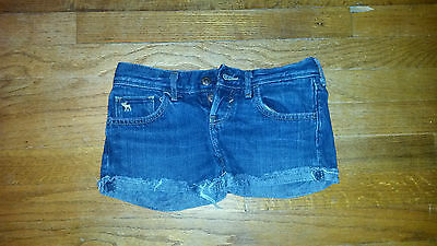 Girls Abercrombie & Fitch Cuffed Cut Off Style Jean Shorts Size 10