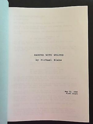 DANCES WITH WOLVES Oscar Winning Screenplay by MICHAEL BLAKE Final Draft 5/23/89