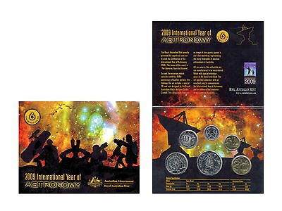 """2009 Uncirculated Australian Mint Set: """"Year of Astronomy."""""""