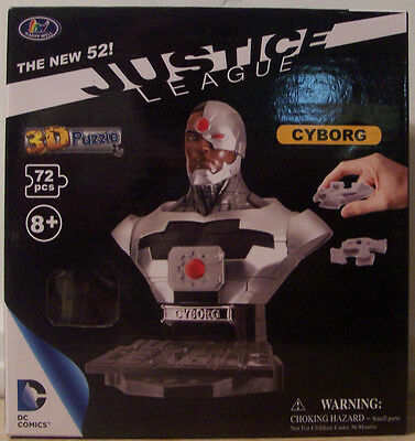 Happy Well DC Heroes Cyborg 72 pc 3D Puzzle Bust