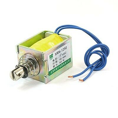 uxcell Uxcell XRN-1250 DC24V Pull Type 10 mm 50N Open Frame Solenoid,
