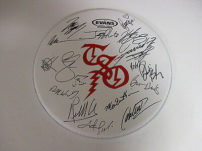 Trans Siberian Orchestra Autographed Signed Drumhead With Exact Signing Proof