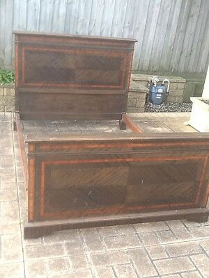 Antique Timber Double Bed