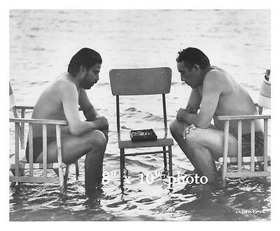 ANTHONY QUINN SHIRTLESS on movie set playing CHESS Wet (88)