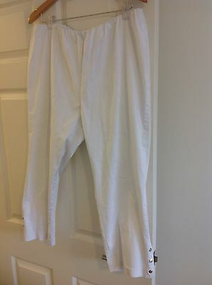 Swish White Stretch Cropped Pants Sz 18