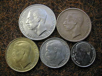 Luxembourg coins x 5
