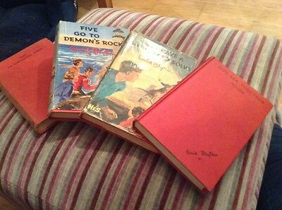 Enid Blyton Famous Five Red Hardback Complete Series 21 Books