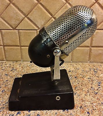 Vintage Microphone Radio Station WHK 1410 AM Easel Type Cleveland Ohio