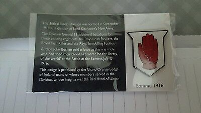 orange order lodge Somme badge