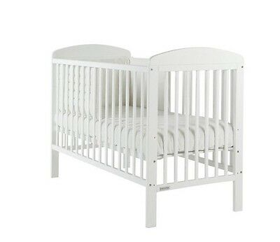 Mamas And Papas Bibi White Cot With Deluxe Foam Mattress