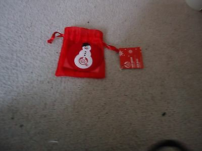 Brand New Body Shop Novelty  Snowman Mirror  In Organza Bag