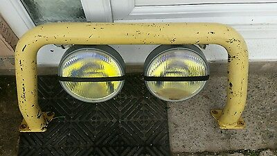 land rover defender a bar 90 110 130 series with spot lights