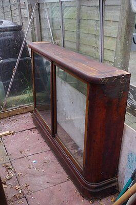 BARGAIN Antique Victorian Glass Fronted Bookcase / Shelving / Display / Storage