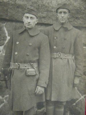 Doughboys in Overcoats w/ Pistol Belts - Army of Occupation  rppc