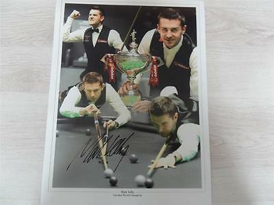 Signed 16 X12 Photo Montage Mark Selby Snooker Champion  Proof COA