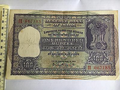 Indian 100 Rupees Bnknote Very Old