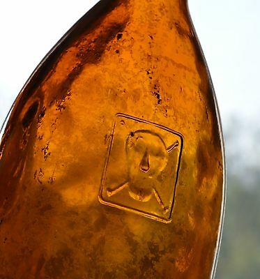 Rare POISON  * Skull and crossbones * Antique  Bottle !