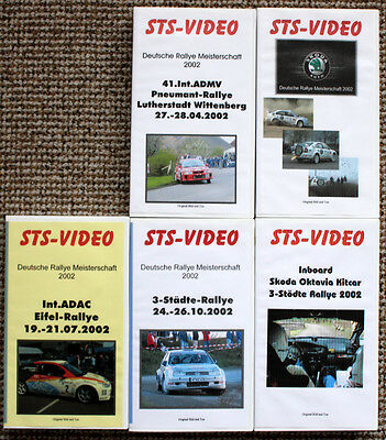 5 x Video Dt. Rallye Meisterschaft DRM 2002 - Skoda Octavia WRC & Kitcar, Action