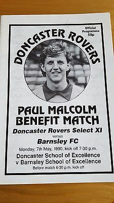 Doncaster Rovers V Barnsley FC 7.5. 1990 - Paul Malcolm Benefit