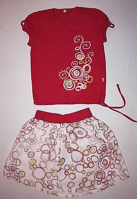 Girls' Summer Set Top and Skirt 3-4 years VGC