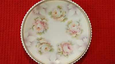 "Lovely~Vintage *pk Silesia*germany~ Floral 8"" Plate~Dish W/ Scalloped  Edges"