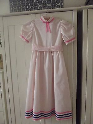 Girl's age 5-7 years vintage 1980s Edwardian full length party dress Ex Con