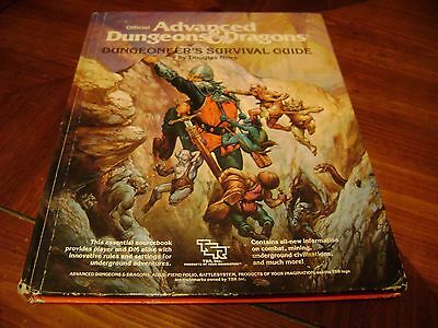 Advanced Dungeons& Dragons Dungeoneer's Survival Guide hardback book.