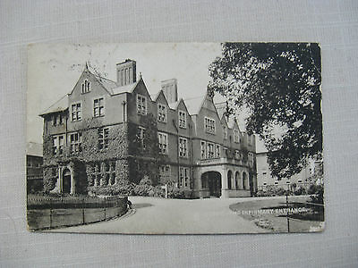 Postcard. Derby, The Infirmary Entrance. B & W Dated and stamped 1907
