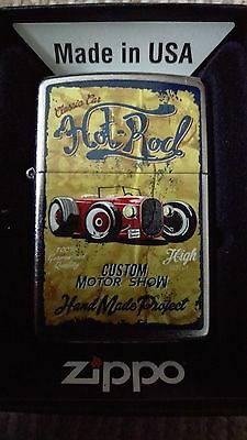 Zippo  Very Rare  Vintage Race Series #10 (Hot Rod)