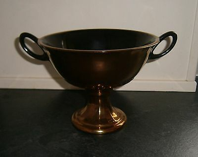 Copper Lustre Pedestal Trophy Vase By Beswick