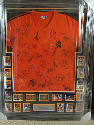 Holland - Amazing Multi Signed Legends Shirt 30+ Signatures - Framed & Proof!