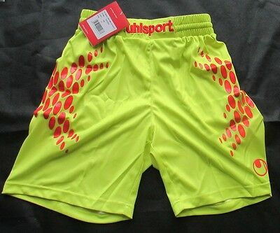 Uhlsport Anotomic Goalkeeper Shorts Lime And Red Bnwt Size Small Mens