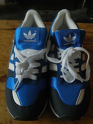 Womens Navy/white/Bright blue adidas trainers size 6.5