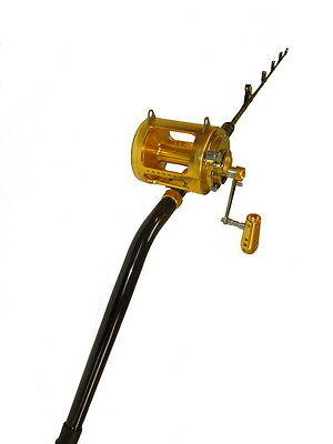 80-100 lbs Blue Marlin Tournament Bent Butt Fishing Rod and 50 Wide 2 Speed Reel