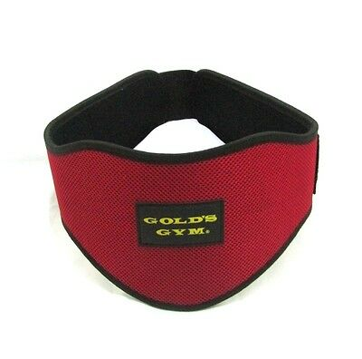 "Gold Gym Belts Weight Lifting Belt 5"" Back Support Training Exercise  ( RED )"