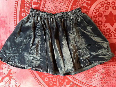 H&M Girls Dress Velvet SKIRT Hippy Folk Ditzy Tea 5-6 YRS