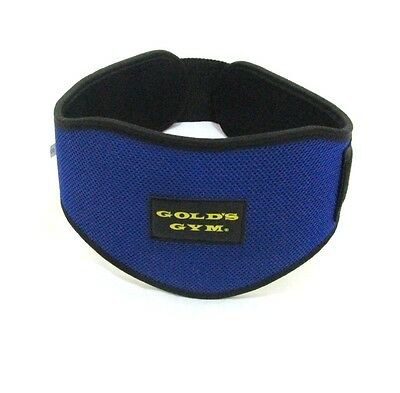 "Gold Gym Belts Weight Lifting Belt 5"" Back Support Training Exercise  (BLUE )"
